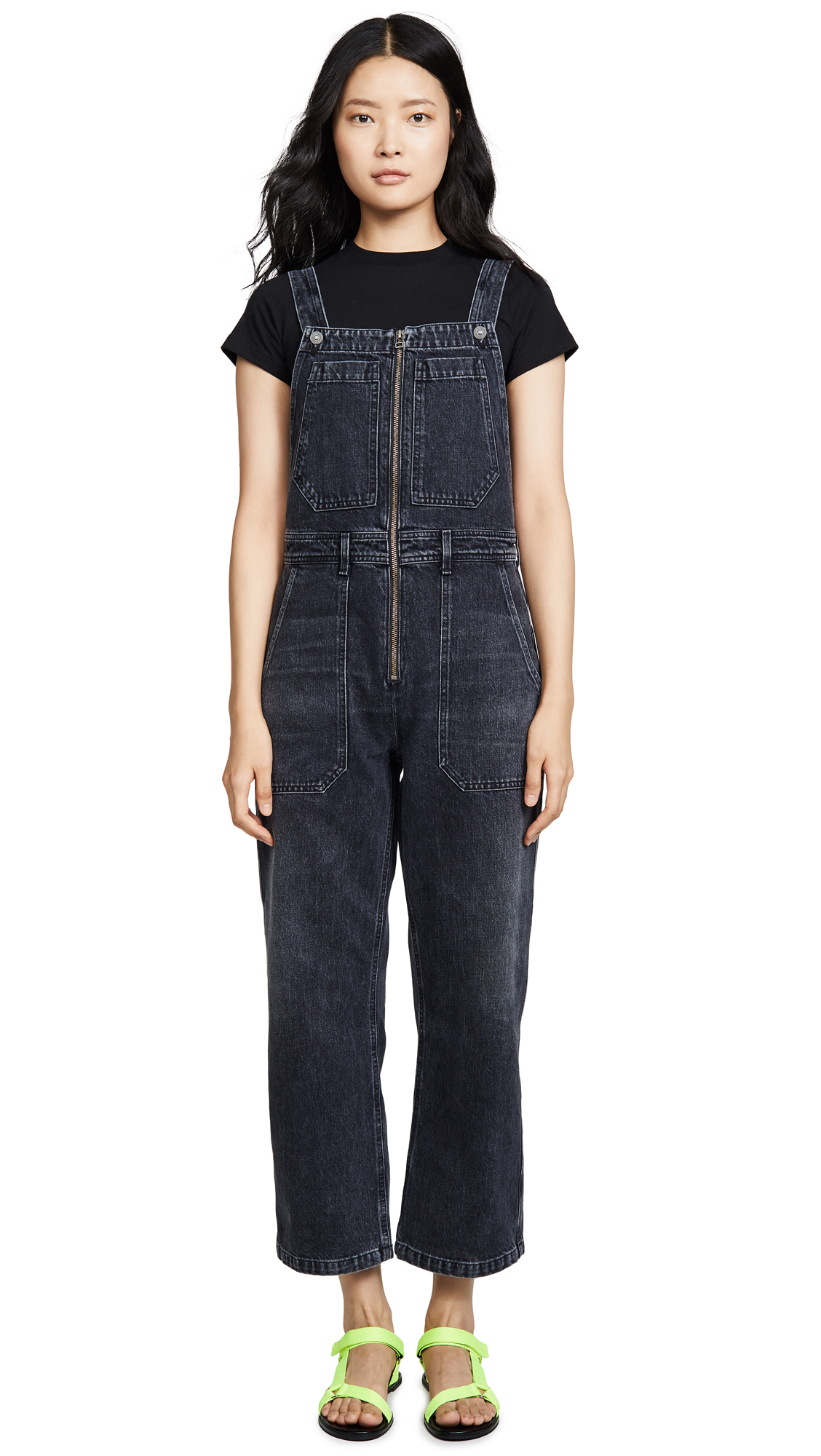 Buy Citizens of Humanity online - photo of Citizens of Humanity Cher Zip Front Dungaree Overalls