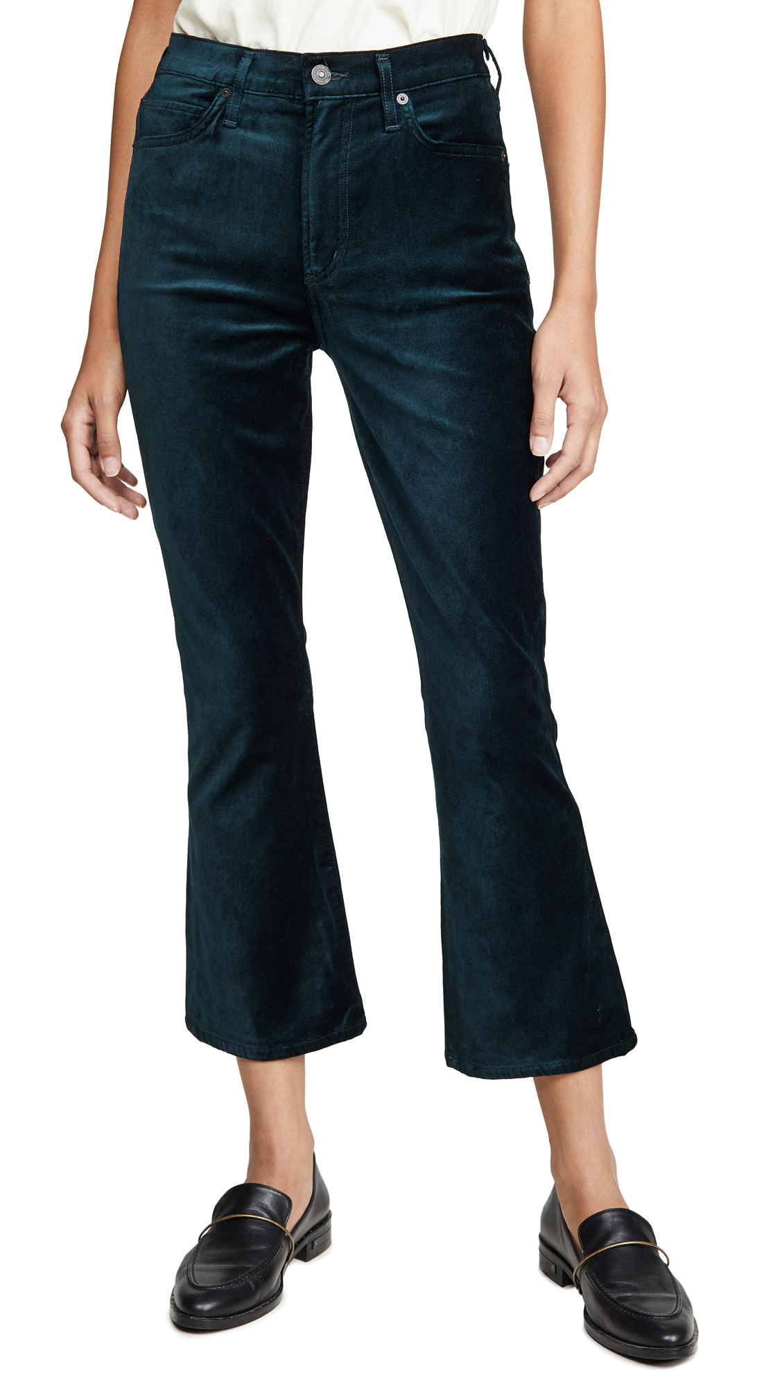 Buy Citizens of Humanity online - photo of Citizens of Humanity Demy Cropped Flare Jeans