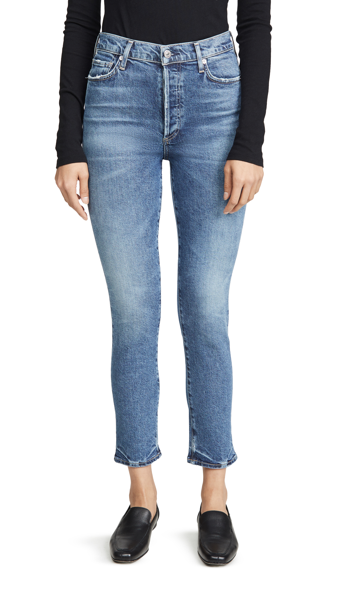 Buy Citizens of Humanity online - photo of Citizens of Humanity Olivia High Rise Slim Ankle Jeans