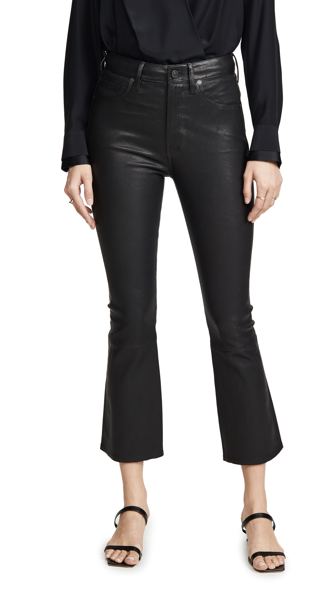 Buy Citizens of Humanity online - photo of Citizens of Humanity Demy Leather Cropped Flare Pants