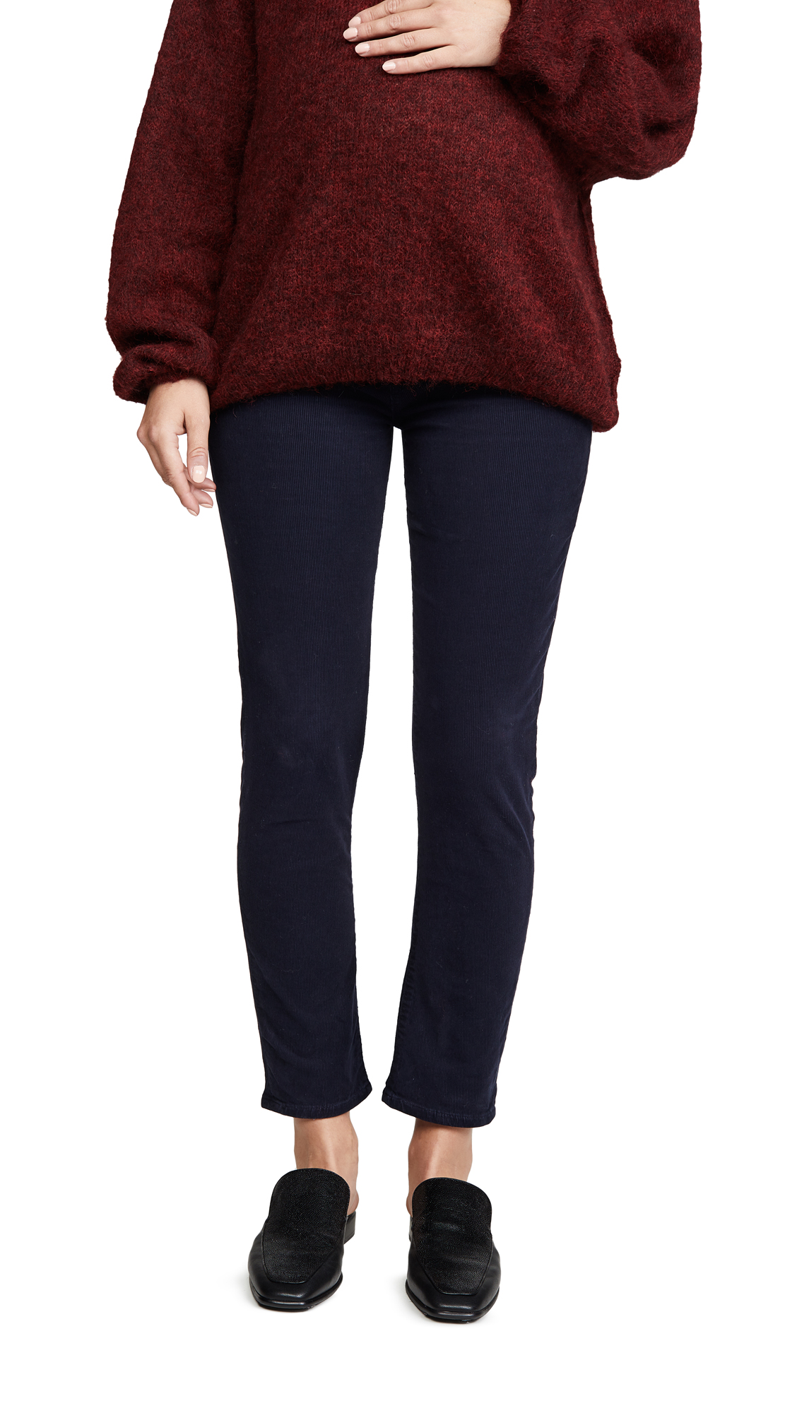Buy Citizens of Humanity online - photo of Citizens of Humanity Harlow Ankle Mid Rise Slim Maternity Jeans