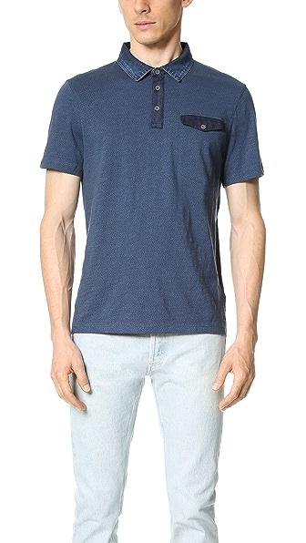 Calvin Klein Jeans Dotted Denim Collar Polo Shirt