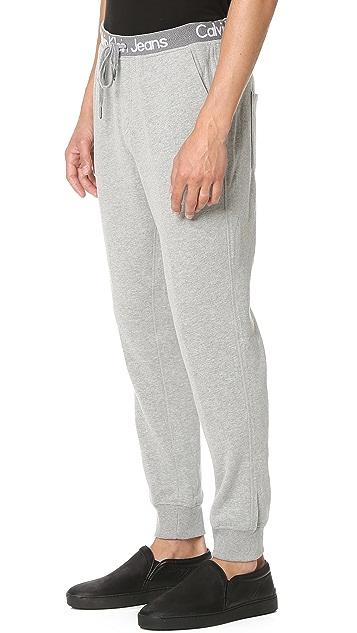 Calvin Klein Jeans Logo Waistband Sweatpants