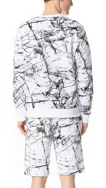 Calvin Klein Jeans Marble Print Crew Sweatshirt