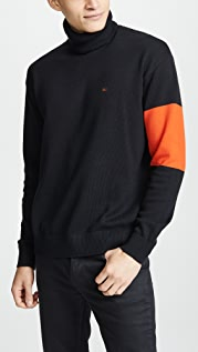 Calvin Klein Jeans Colorblock Turtleneck Sweater