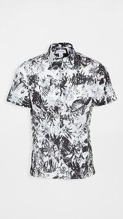 Calvin Klein Jeans Stretch Cotton Floral Shirt