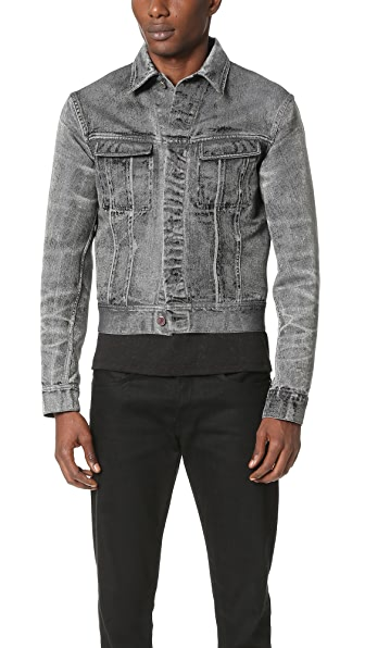 Calvin Klein Collection London Denim Jacquard Jacket