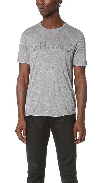 Calvin Klein Collection Jan Reverse Logo Tee