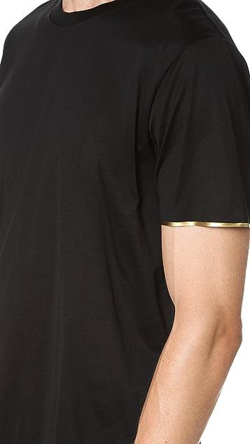 Calvin Klein Collection Nasan Mercerized Metallic Detail Tee