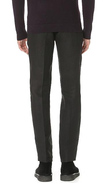 Calvin Klein Collection Crosby Linen Trousers