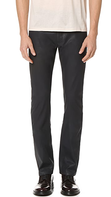 Calvin Klein Collection Gypsum Waxed Jeans