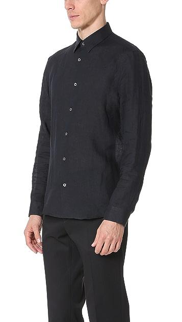 Calvin Klein Collection Rectangle Luxe Linen Shirt