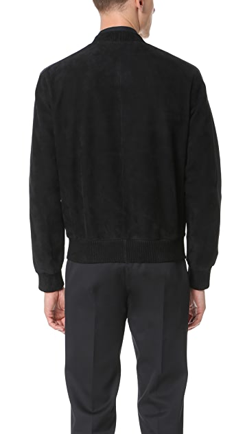 Calvin Klein Collection Philadelphia Suede Bomber Jacket