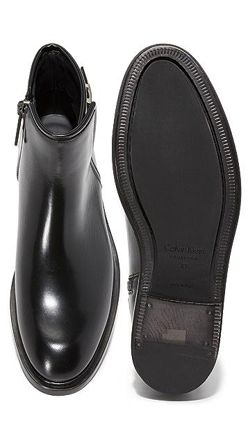 Calvin Klein Collection Bob Zip Boots