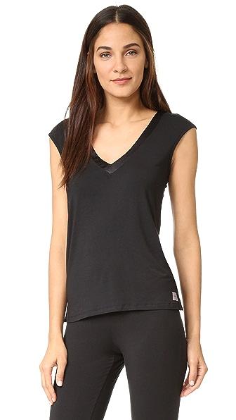 Calvin Klein Underwear Топ-основа с коротким рукавом и атласной отделкой Essentials