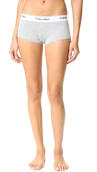 Calvin Klein Underwear Modern Cotton Boy Shorts In Grey Heather