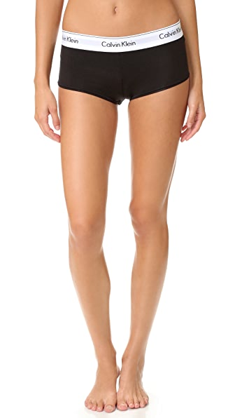 Calvin Klein Underwear Modern Cotton Boy Shorts - Black