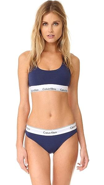 Calvin Klein Underwear Modern Cotton Bralette - Coastal