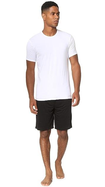 Calvin Klein Underwear Liquid Stretch Short Sleeve Untuckable Crew Tee