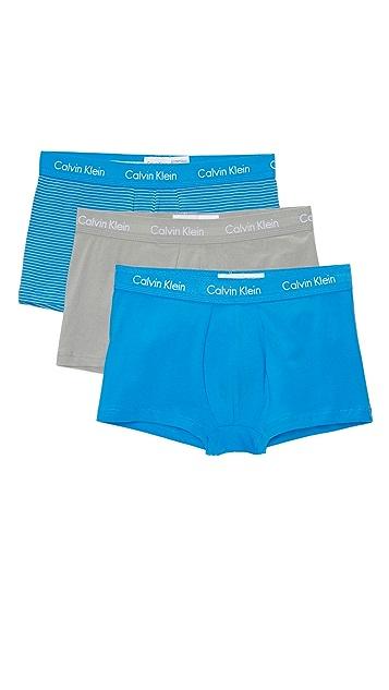 Calvin Klein Underwear 3 Pack Cotton Stretch Low Rise Trunks