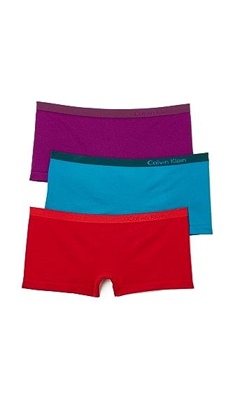 Calvin Klein Underwear Pure Seamless Boyshorts 3 Pack