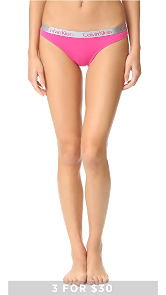Calvin Klein Underwear Хлопковые трусики-танга Radian