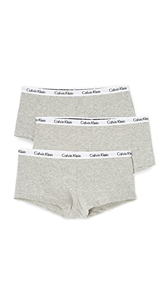 Calvin Klein Underwear Carousel 3 Pack Boyshorts In Grey