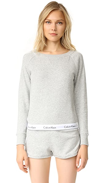 Calvin Klein Underwear Modern Cotton Long Sleeve Sweatshirt - Grey Heather