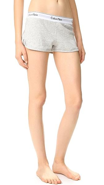 Calvin Klein Underwear Modern Cotton Shorts In Grey Heather