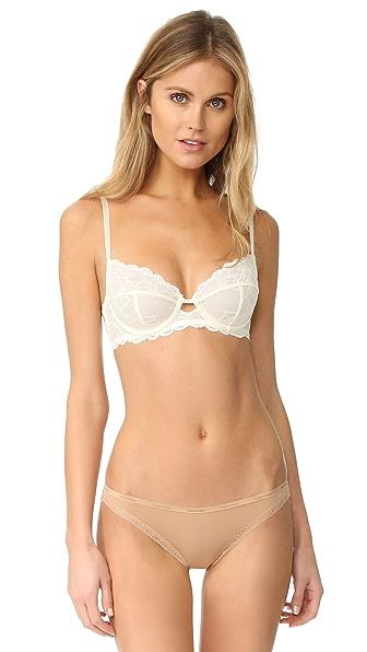 Calvin Klein Underwear Seductive Comfort Full Coverage Unlined Bra In Ivory