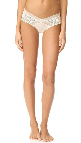 Calvin Klein Underwear CK Black Hipster Briefs - Ivory
