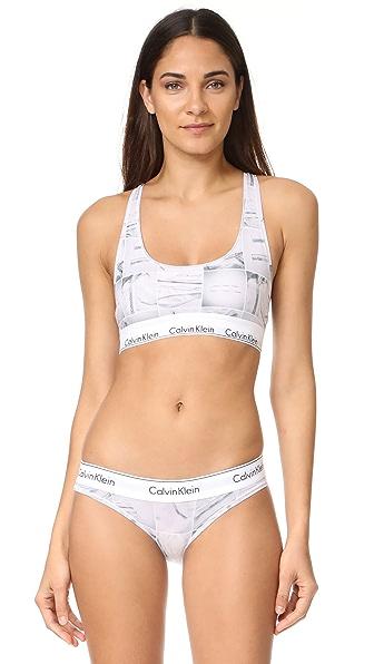Calvin Klein Underwear Современный хлопковый бюстгальтер без косточек