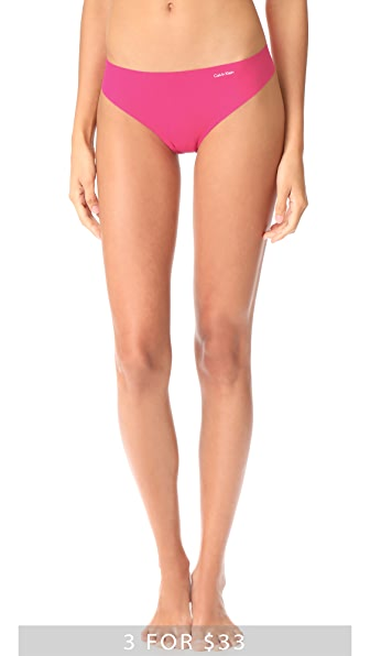 Calvin Klein Underwear Invisibles Thong - Transpink