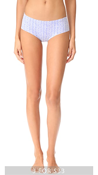 Calvin Klein Underwear Printed Invisibles Hipster - Petite Crescent Print