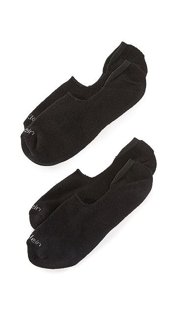 Calvin Klein Underwear 2 Pack Cushion No Show Socks