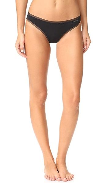 Calvin Klein Underwear Sculpted Thong - Black