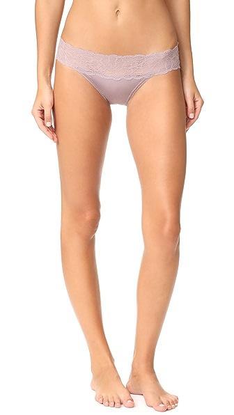 Calvin Klein Underwear Seductive Comfort Lace Bikini Briefs In Violet Dust