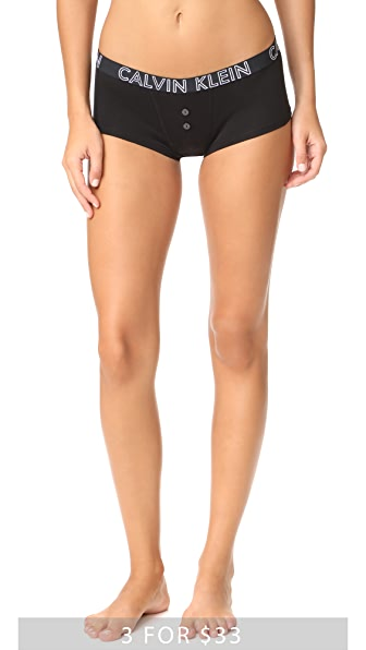 Calvin Klein Underwear Ultimate Cotton Boy Shorts - Black