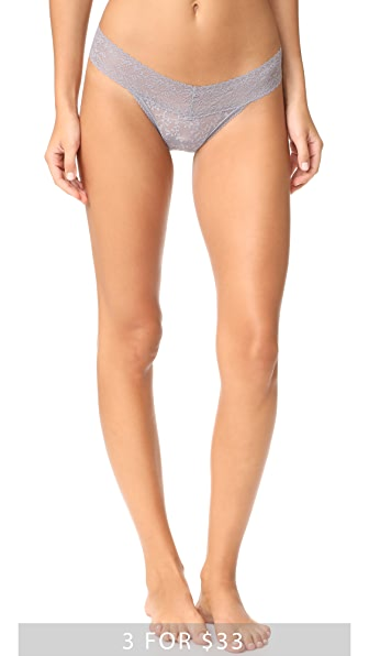Calvin Klein Underwear Bare Lace Thong - Silverlock