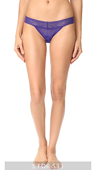 Calvin Klein Underwear Bare Lace Thong - Polymer Blue