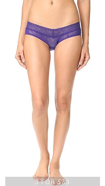 Calvin Klein Underwear Bare Lace Hipster Briefs - Polymer Blue