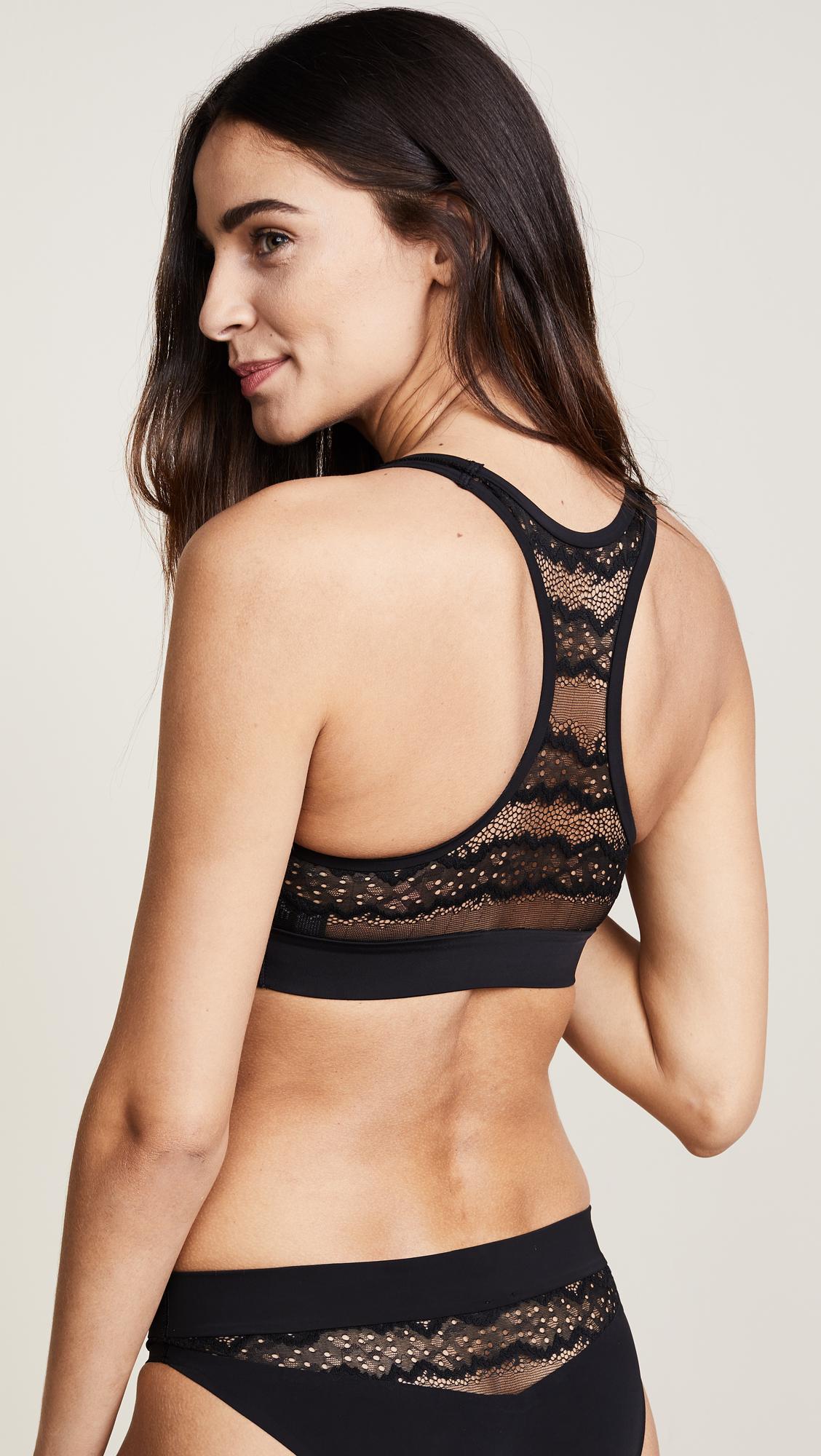 d5a29bd78915c Calvin Klein Underwear CK Black Electric Unlined Bralette