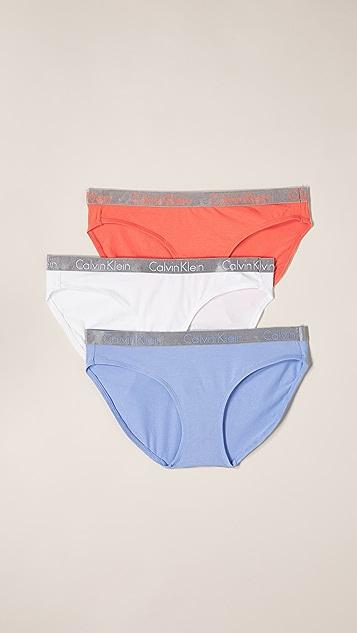 Calvin Klein Underwear 3 Pack Radiant Cotton Bikini Briefs