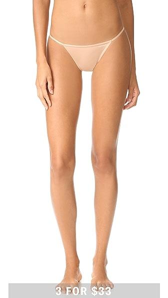 Calvin Klein Underwear Sleek String Bikini Panties In Bare