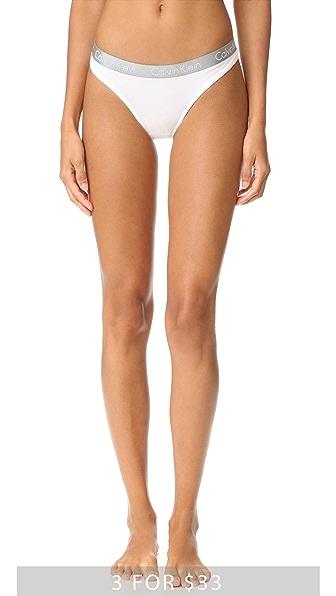 Calvin Klein Underwear Блестящие трусики-танга из хлопка