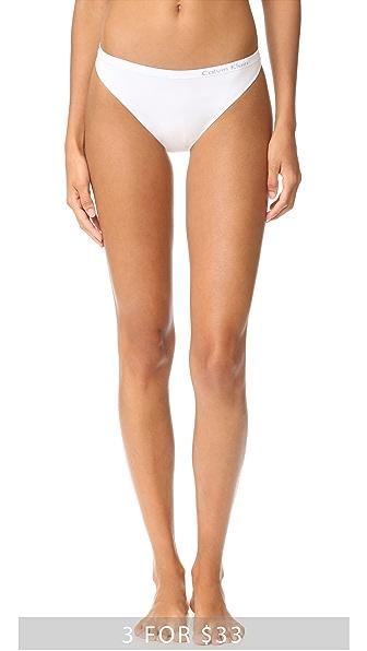 Calvin Klein Underwear Бесшовные трусики-танга Pure