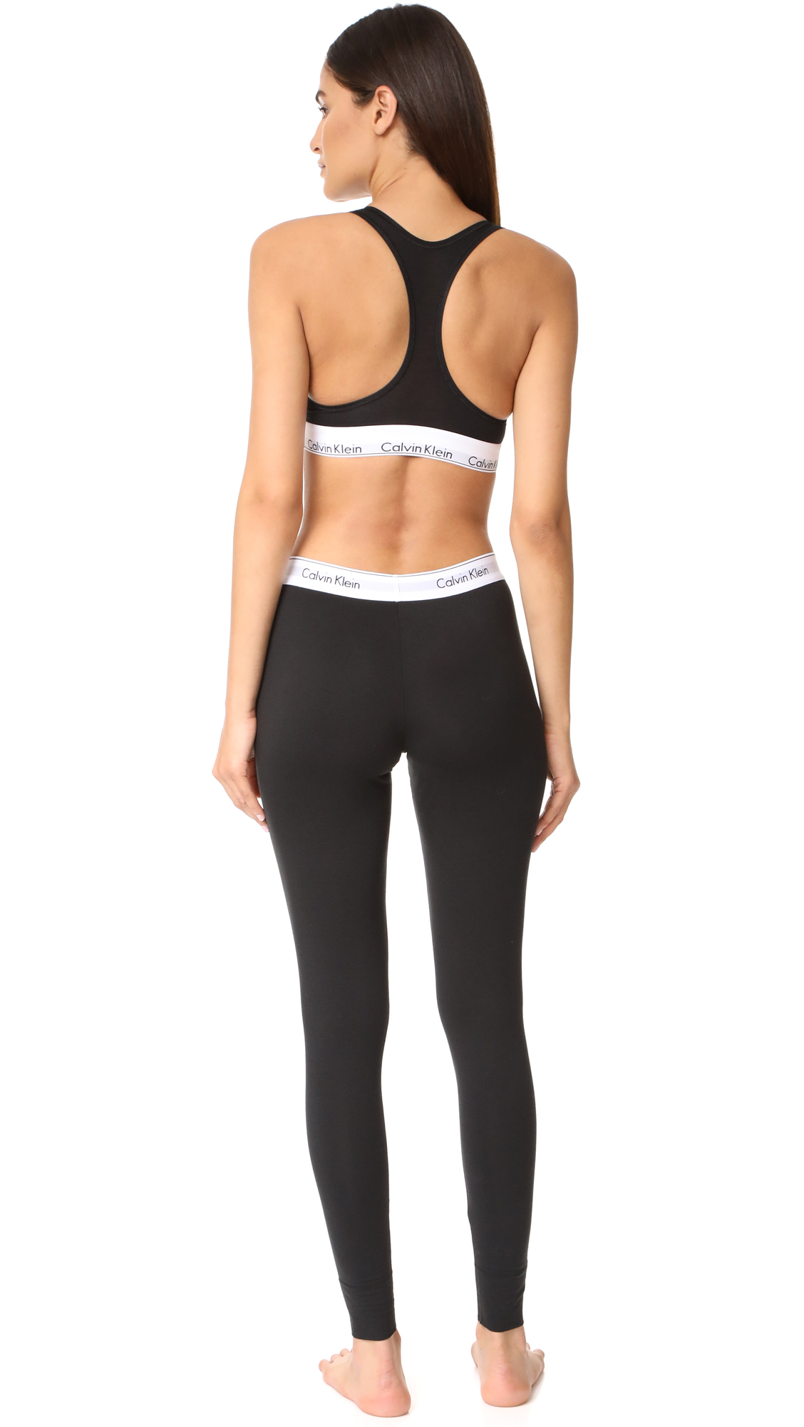 f0e868e5d758d Calvin Klein Underwear Modern Cotton Bralette   Leggings Set