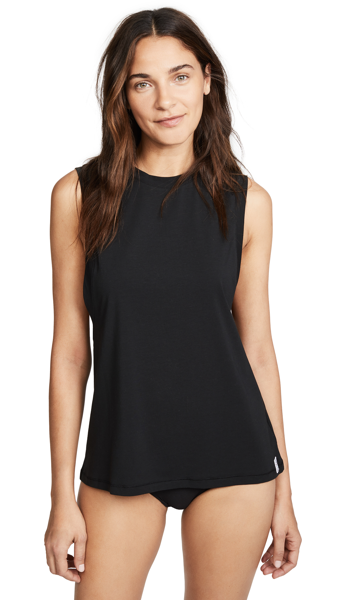 Calvin Klein Underwear Modern Cotton Sleep Tank In Black