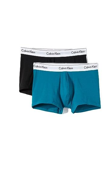 Calvin Klein Underwear 2 Pack of Modern Cotton Stretch Trunks