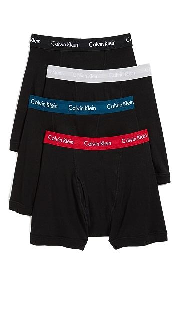 Calvin Klein Underwear 4 Pack Cotton Classic Boxer Briefs